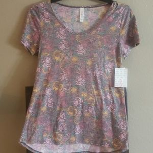 New LuLaRoe Classic T Faded Rose Small